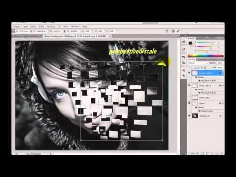 Tutorial Photoshop Cs5 Effect Explosion - Face Explosion (Block) Tutor