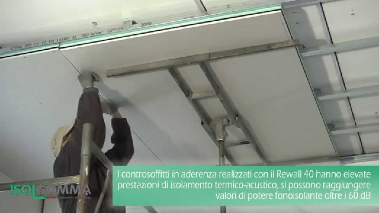 come si monta il perlinato a soffitto : Isolamento acustico REWALL 40: controsoffitto in aderenza - YouTube