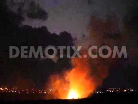 Iron Dome missile intercepts Hamas rocket, night vision shot