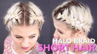 HOW TO Milkmaid Braid Short Hair | Milabu