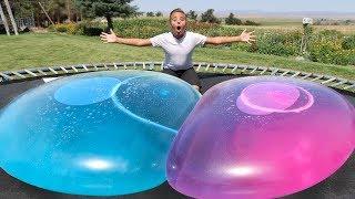 GIANT WATER WUBBLE BUBBLE SUPER WUBBLES WATER BALLOON BUBBLE BALL NEVER POPS CHALLENGE 2017!!
