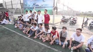 Tuyển thủ quốc gia Mạc Hồng Quân giao lưu bóng đá cùng SV Đại học Đại Nam giao