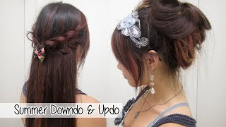 Cute Summer Down-do and Up-do