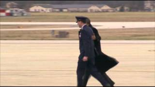Raw: Pres. Obama Returns from Hawaii