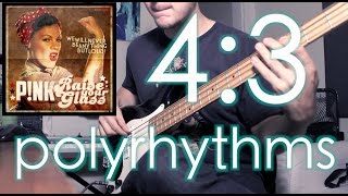4:3 Polyrhythms (in top 40 pop music?!) [ AN's Bass Lessons #4 ]