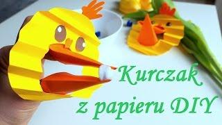 Prace Plastyczne Wielkanoc Kurczak Z Papieru Kurczaczek Zabawa Dla