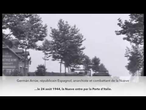 German Arrue et la Nueve entrent dans Paris par la Porte d'Italie