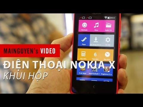 Khui hộp điện thoại Nokia X - www.mainguyen.vn