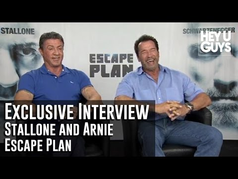 Sylvester Stallone and Arnold Schwarzenegger Interview - Escape Plan