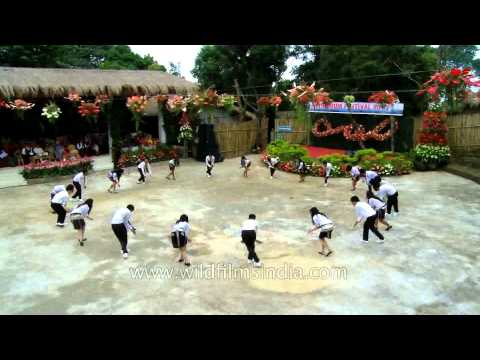 Traditional dance with a style by Cultural Club, Mizoram