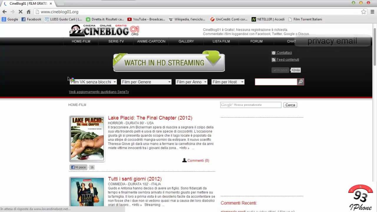 siti per vedere film gratis senza scaricare