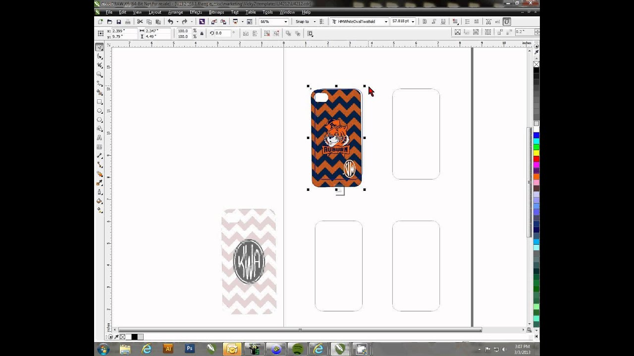Using Conde S Jig Templates In Coreldraw Youtube