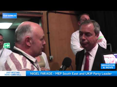 Interview with UKIP leader Nigel Farage Summer 2013