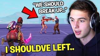 I Witnessed A KID COUPLE BREAKUP while undercover.. (Fortnite)