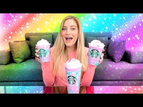 🌈 Starbucks Unicorn Frappuccino Taste Test!