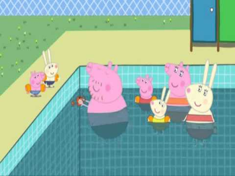 Peppa pig swimming pool youtube for Peppa pig swimming pool english full episode