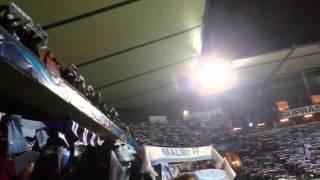 Malm�-Juventus, coreografia dei tifosi di casa e squadre in campo