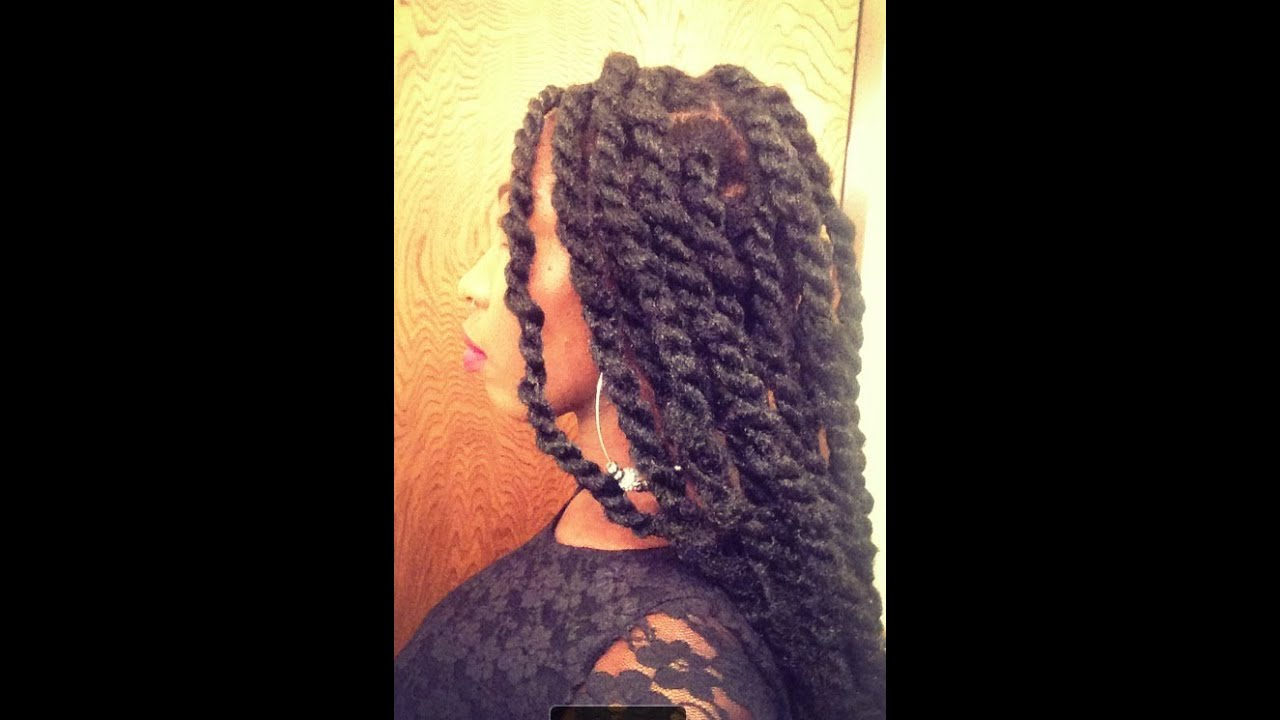 Kinky Twists: Tutorial & Review on Natural Hair - YouTube