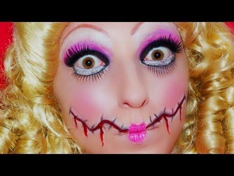 Maquillage Halloween : Poupée Diabolique