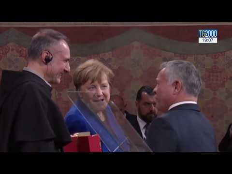 Ad Assisi i Reali di Giordania e Angela Merkel