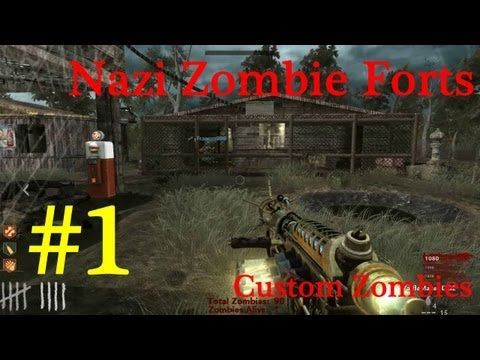 [Parte 1] Nazi Zombie Forts - Custom Map #2 - Call of Duty World at War (Italiano)