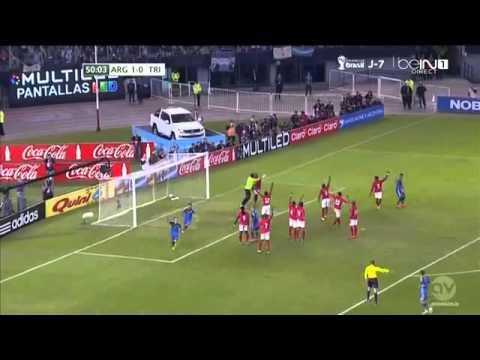 Gol de Javier Mascherano Argentina vs Trinidad y Tobago 2 0 Amistoso 2014