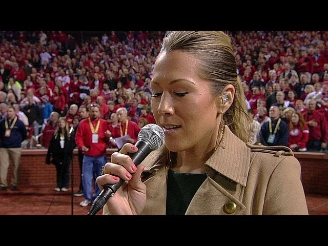 Colbie Caillat performs national anthem