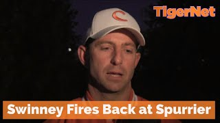 Dabo Rant - Dabo fires back at Spurrier