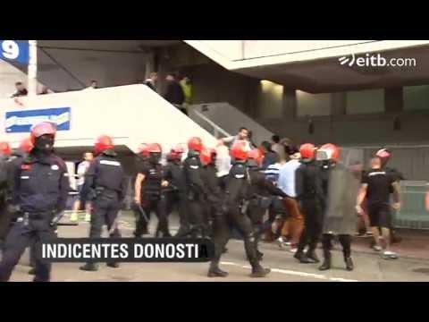 Real Sociedad Champions: Ultrasur provoca incidentes en San Sebastian