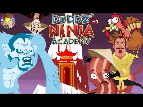 HELLO NEIGHBOR RACE TO THUNDER MOUNTAIN! (Duddz Ninja Academy #2) Funny animation