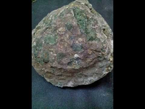 Kimberlite rock with precious stone and natural ore also found 3