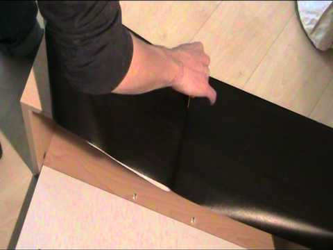 anleitung schrank mit folie bekleben 1 youtube. Black Bedroom Furniture Sets. Home Design Ideas