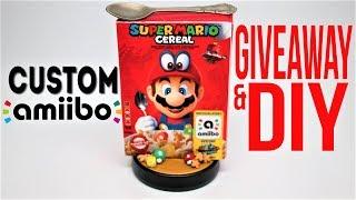 DIY Super Mario Cereal Custom Amiibo GIVEAWAY