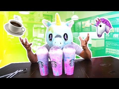 STARBUCKS UNICORN FRAPPE TASTR TEST ASMR!