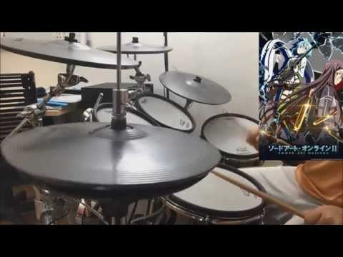 IGNITE - Aoi Eir 藍井 エイル (Drum Cover) | Sword Art Online II  ソードアート・オンライン II OP