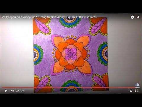 Vẽ trang trí hình vuông lớp7_ Trang trí hình vuông_ Squares_ Draw squares