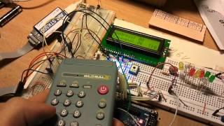RC5-Fernbedienung steuert drei LEDs - Elektronik-Labor