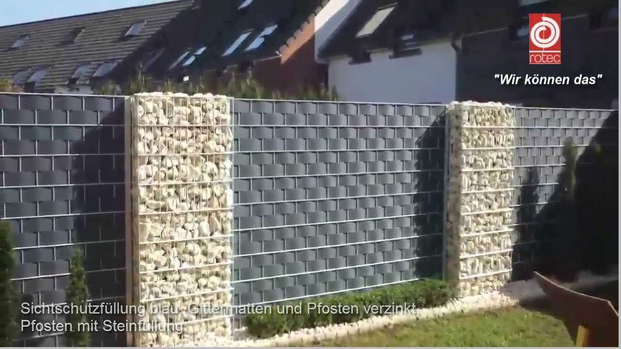 Sichtschutz sichtschutzzaun aus berlin youtube for Sichtschutz stabmattenzaun
