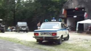 Milicyjny Radiowóz Na Sygnale