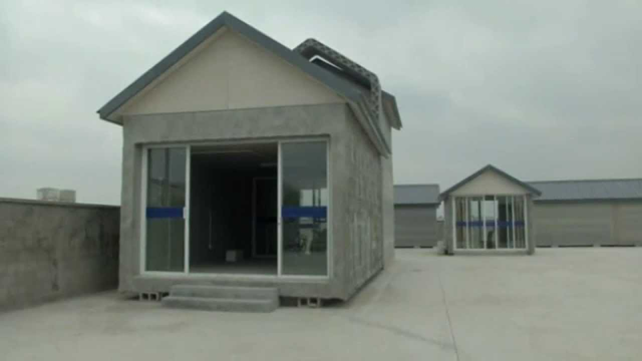 Chinese company uses 3d printer to build homes youtube for Companies who build houses