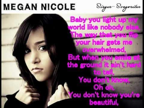 Megan Nicole B-e-a-utiful - (Lyrics) B-e-a-utiful - Megan ...
