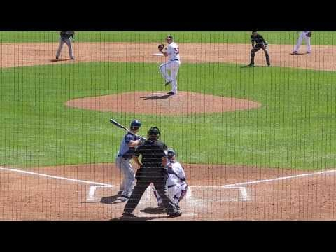 Rays Jayson Nix Strikes Out Vs Braves David Hale 3/14/14 HD