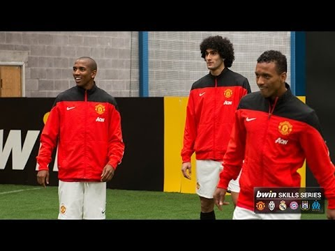 Manchester United's Young, Fellaini and Nani show off their skills