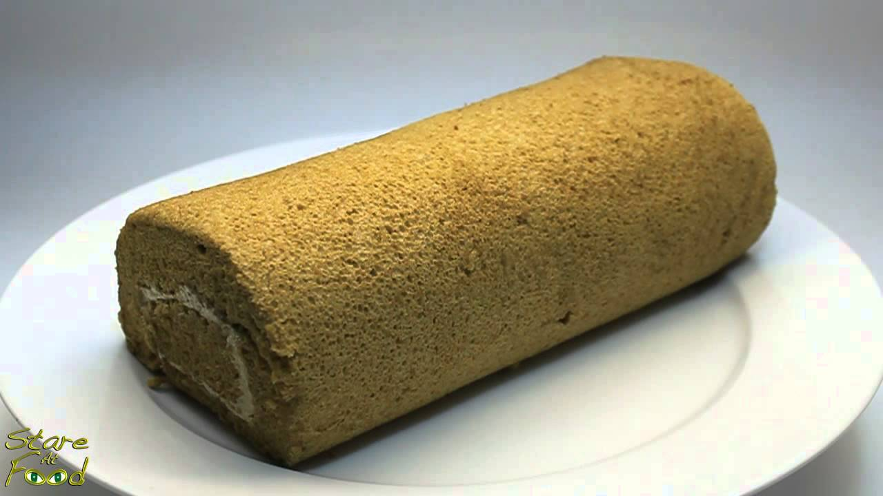Stare At Food: Mocha Chocolate Cake Roll - YouTube
