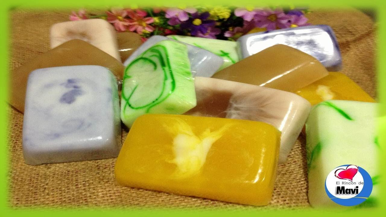Como hacer jabones artesanales con glicerina cosmetica - Como hacer puff artesanales ...