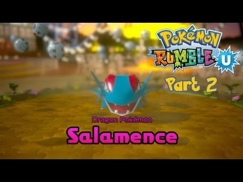 Pokemon Rumble U (English) - Part 2: Sparkly Playland - Jungle Area (Serperior, Luxray & Salamence)
