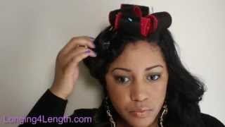How To Roller Set Your Weave (rodset With No Direct Heat