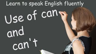 Use of can and cant, Common Grammar Errors