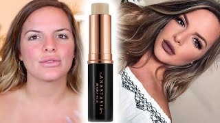 BRAND NEW Anastasia Stick Foundation | First Impression & 11 HR Wear Test | Casey Holmes