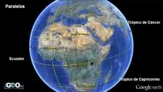 Planeta Tierra: Paralelos, Meridianos, Placas Tectónicas